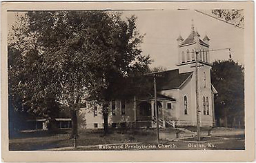 RP Church Olathe Kansas Postcard